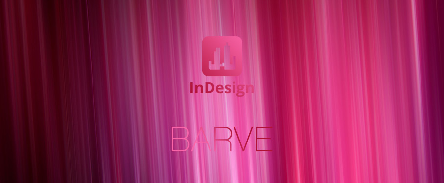 indesign barve